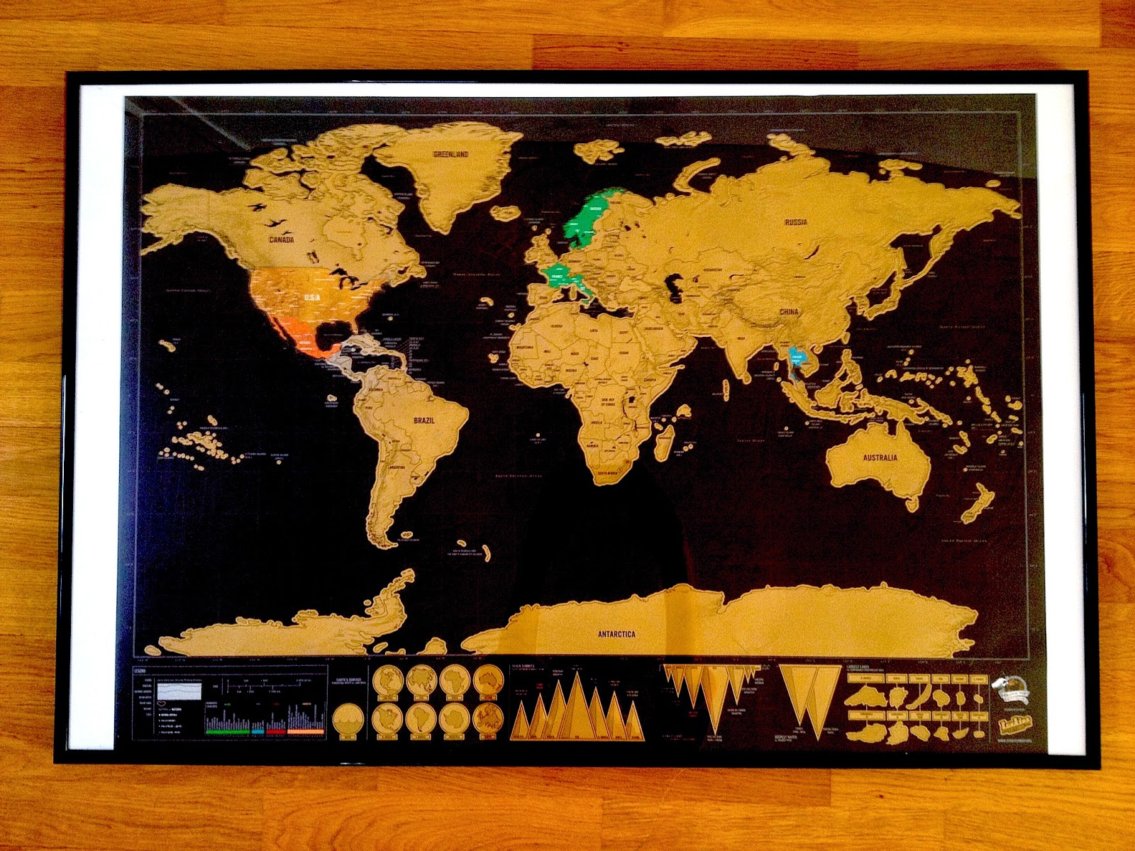 Scratch off Travel Map