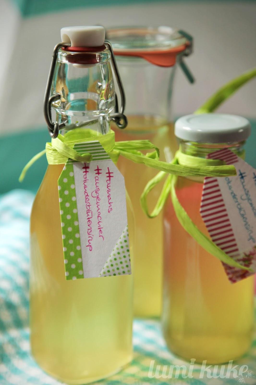 Holunderblütensirup mit Zitrone - selbst gemacht