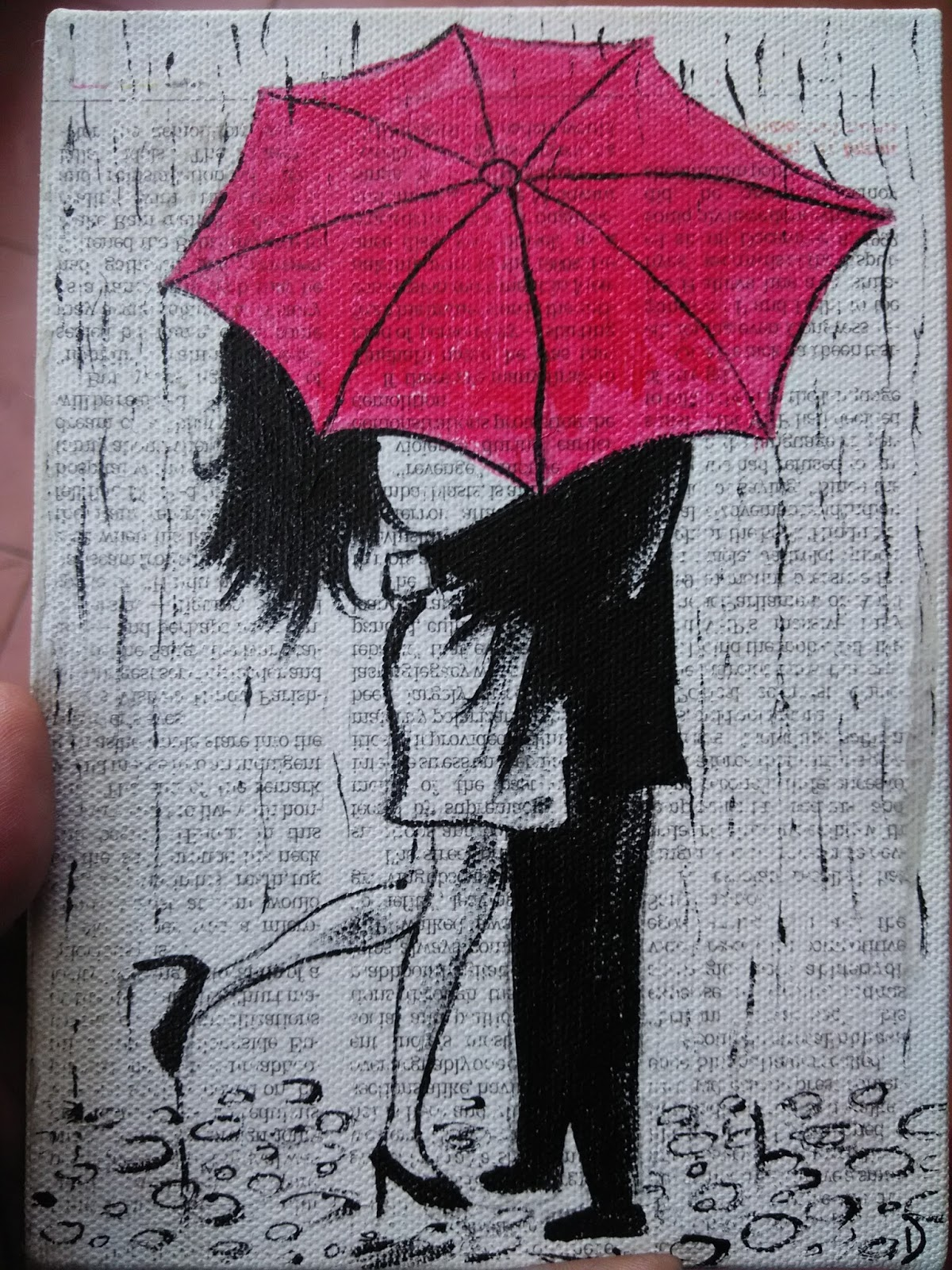The red umbrella unique gift for partner for Painting red umbrella