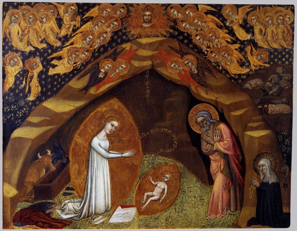 St Bridget and the Vision of the Nativity