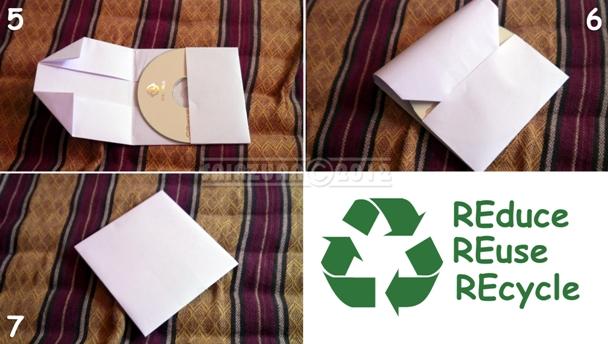 Membuat tempat simpan cd dengan menggunakkan kertas