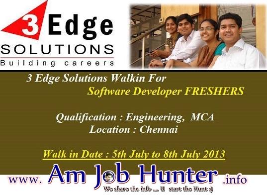Freshers jobs in 3Edge