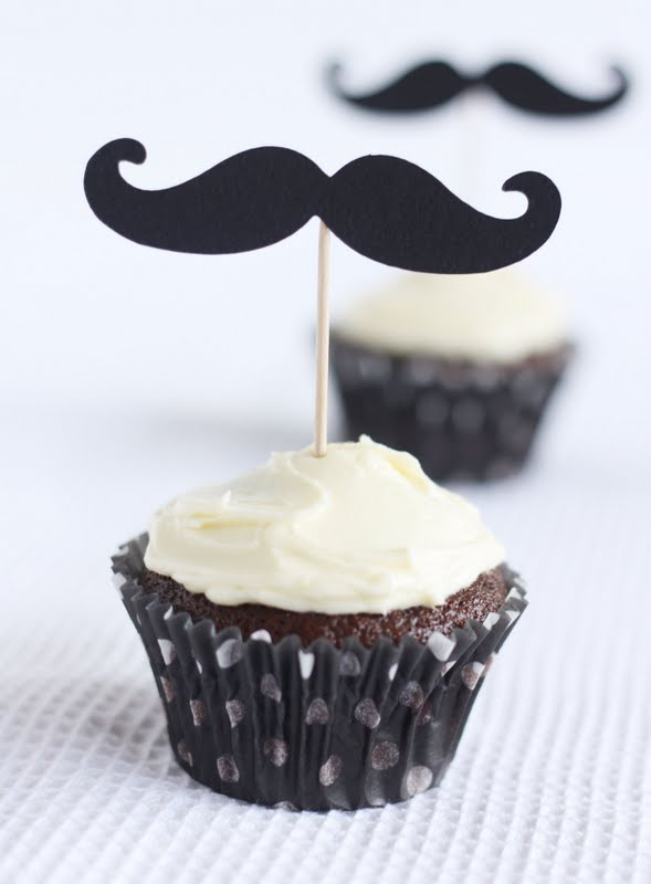 Mustache Wedding Cake Topper