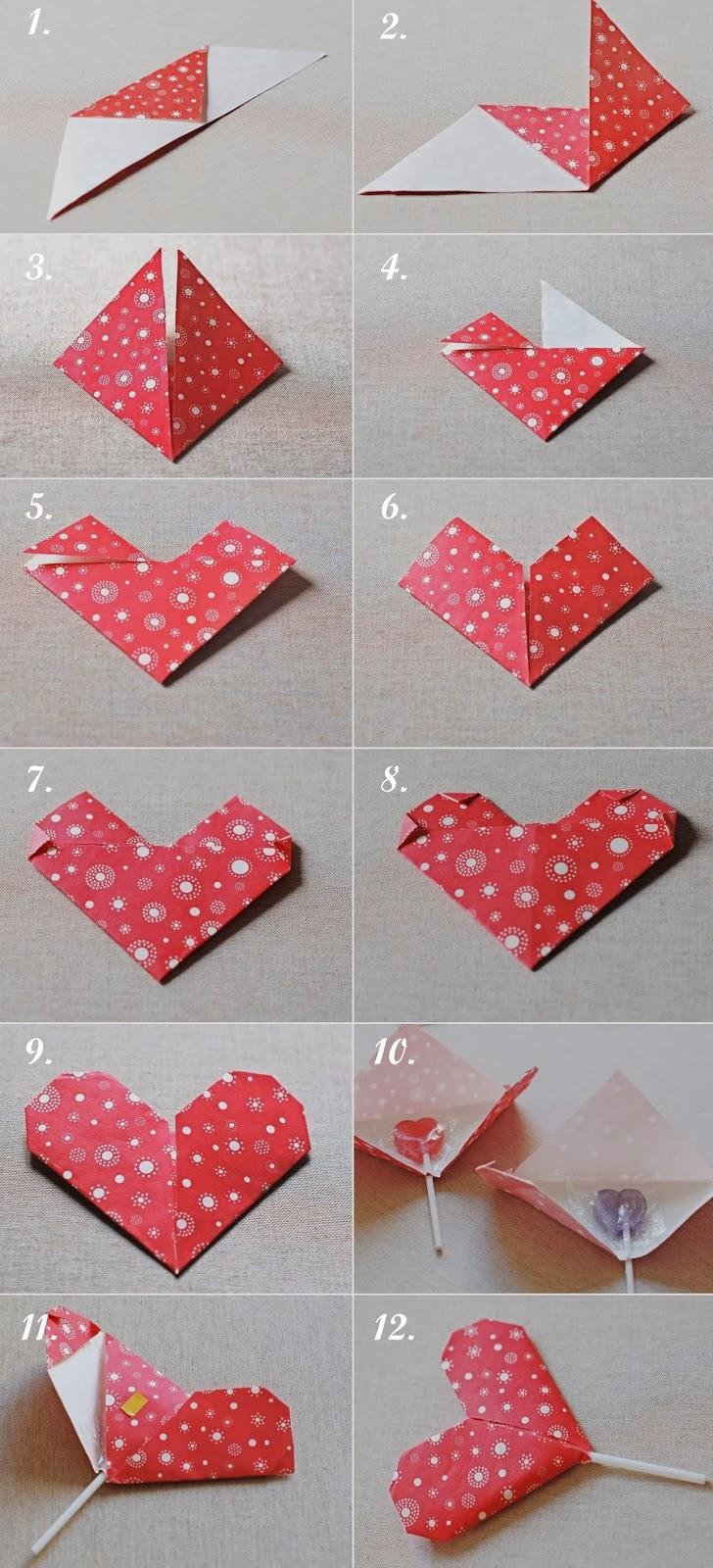 DIY Corazón origami