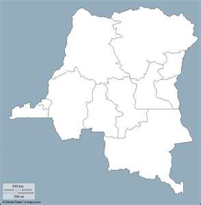 República Democrática del Congo, mapa mudo