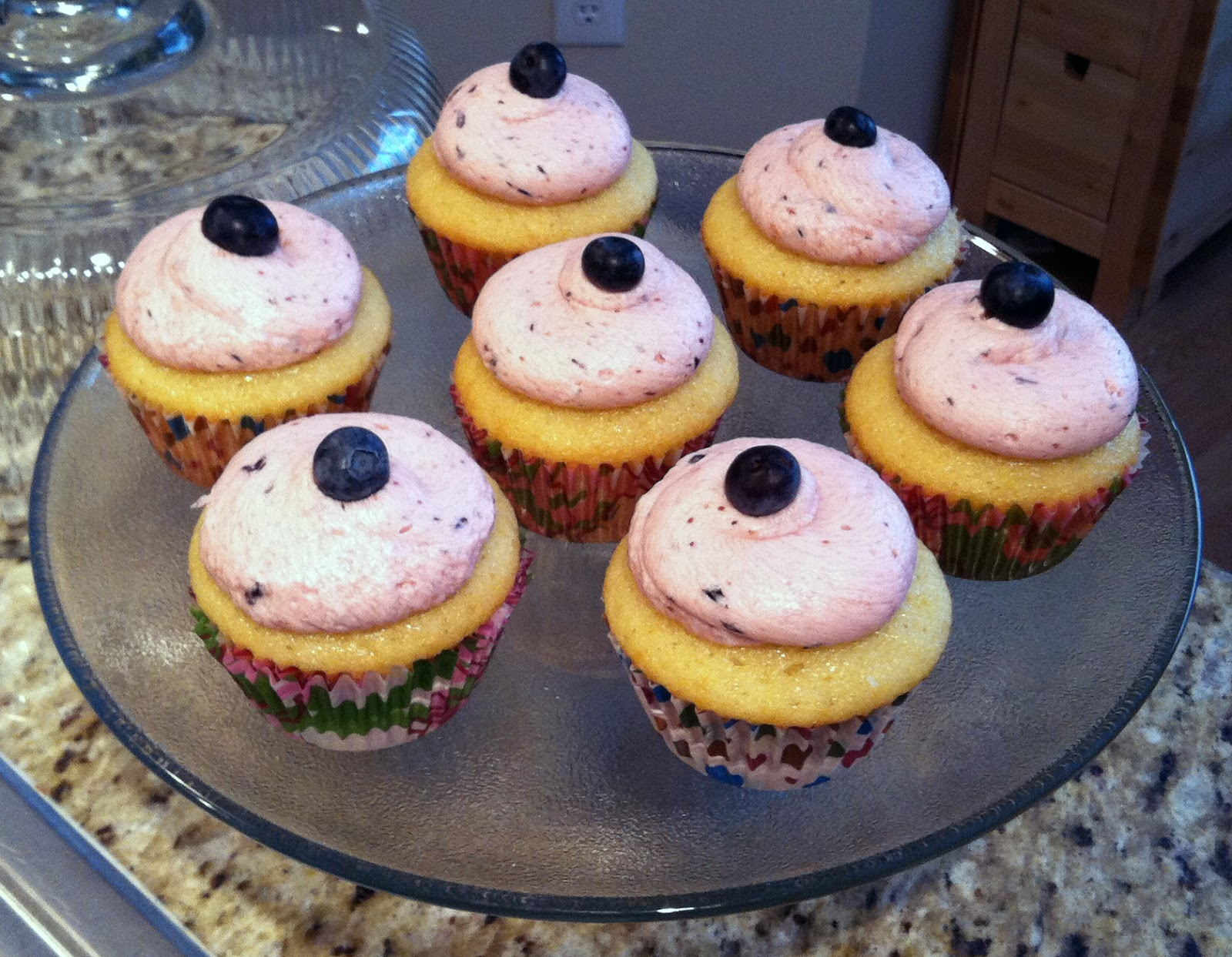 The Great Cupcake Adventure: Lemon Cupcakes with Blueberry Icing