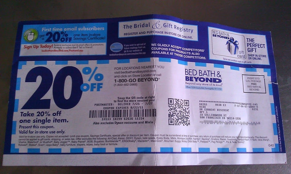 Bed bath and beyond 20 coupon code