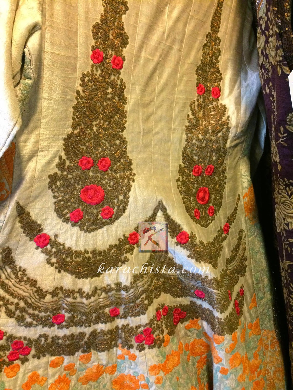 White embroidered jacket by Indian designer Anshu Jain