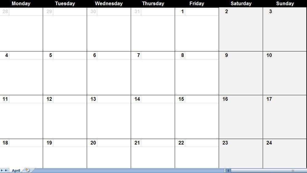 Blank Calendar Large Squares – imvcorp