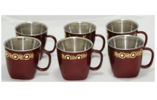 Buy SCdi Twisted Shape Tea Cups With Six Different Colours – 6 Pcs Set at Rs 130 at pepperfry