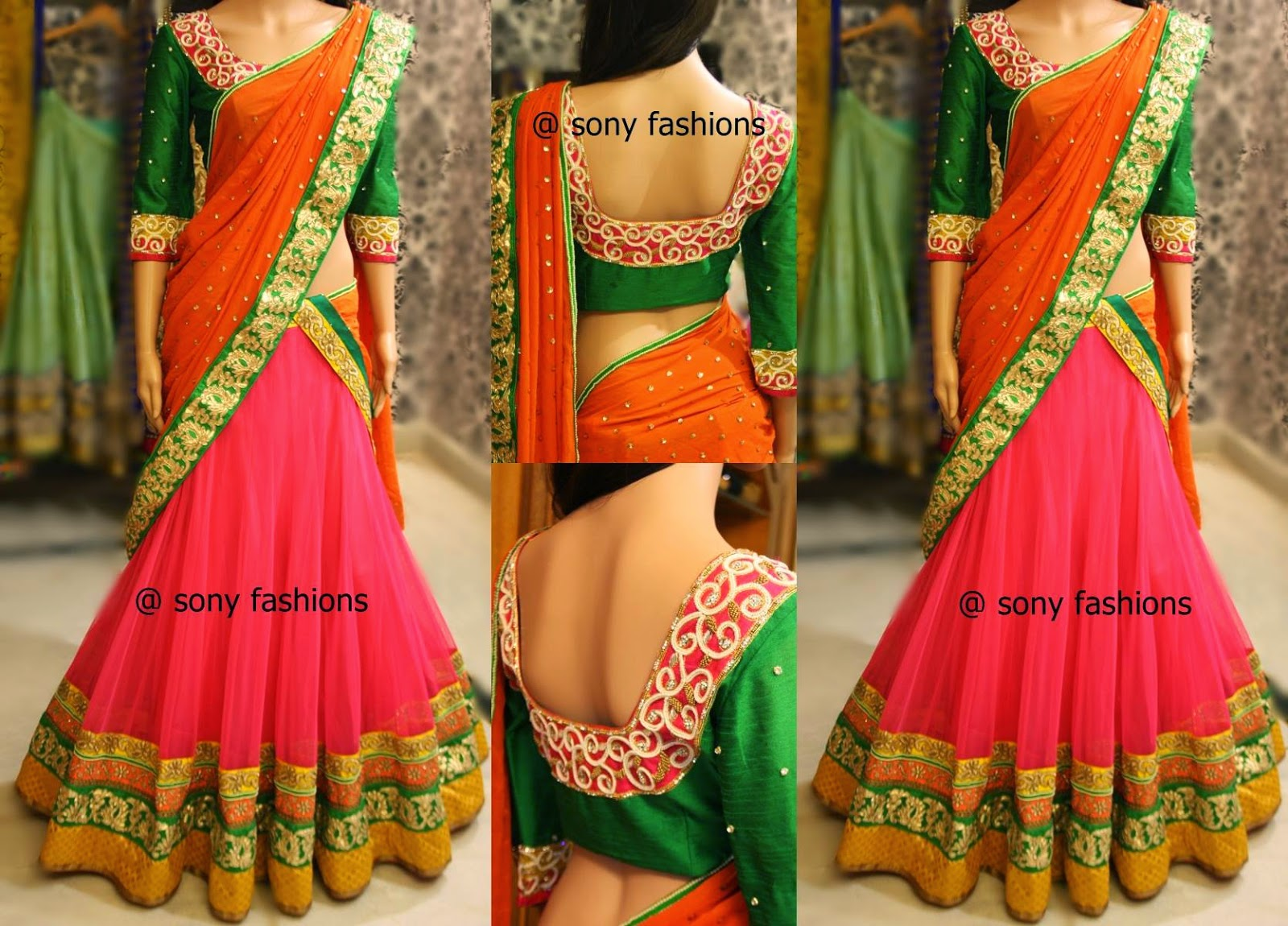 half sarees by sony reddy
