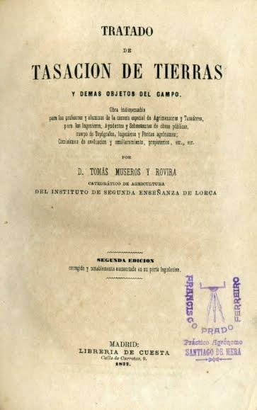 1877 TRATADO DE TASACIÓN DE TIERRAS