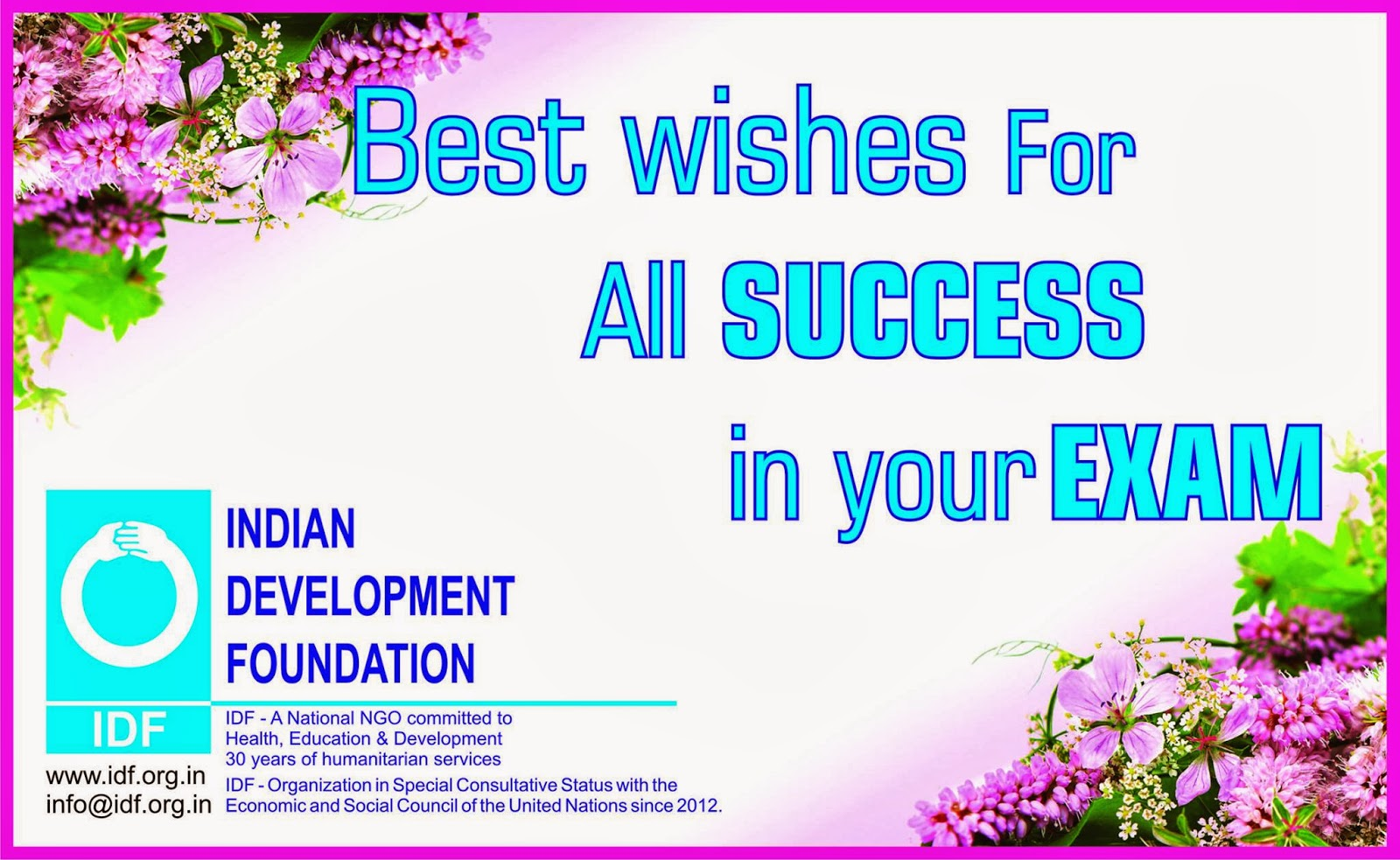Make Your Wish April 2016 – Best Wishes for Exams Cards