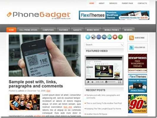 Download Phone Gadgets WordPress theme
