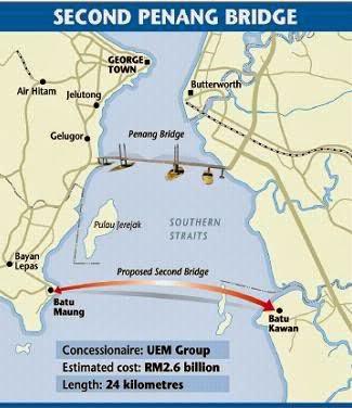 Jambatan Sultan Abdul Halim Mu'adzam Shah Jambatan Kedua Pulau Pinang