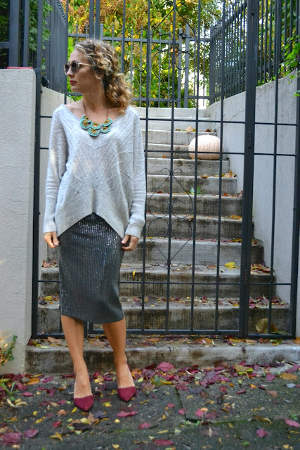 how to style a sequin skirt