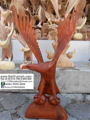 Eagle Wood Carvings from Bali Indonesia