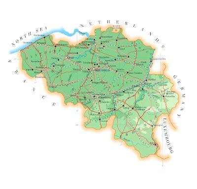 Belgien Karte Politisch Bild