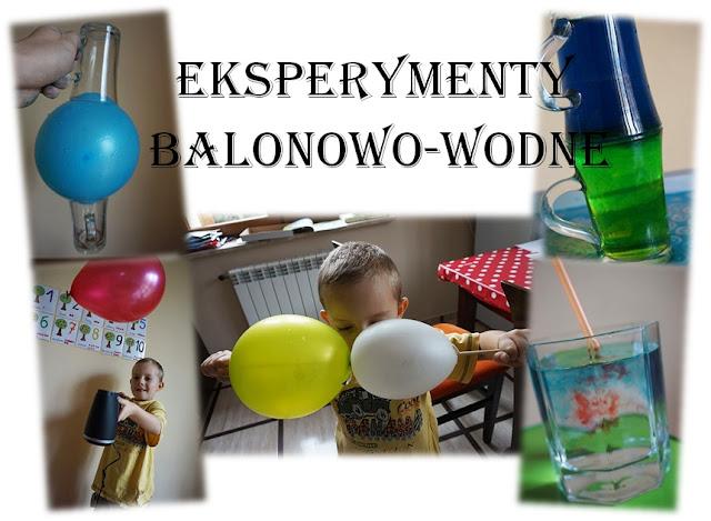 eksperymenty z wodą i balonami