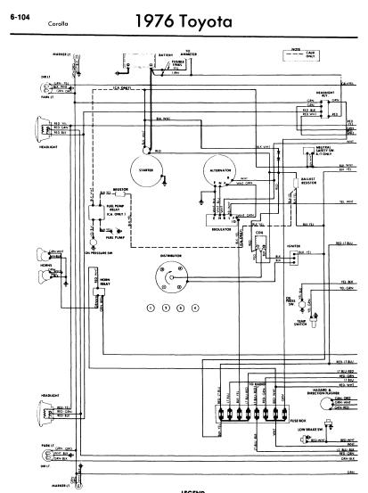 toyota_corolla_1976_wiringdiagrams corolla wiring diagram toyota prius diagram \u2022 free wiring diagrams 1977 toyota pickup wiring diagram at highcare.asia