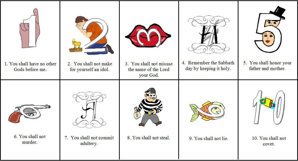 ten commandments for kids kjv ten commandments for kids catholic ten ...