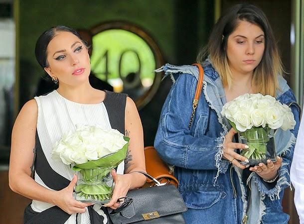 Lady Gaga and Natali Leaves Gaga's Apartment in NYC