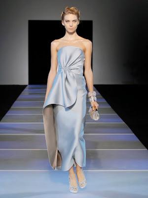 Lana Del Rey's dress on the catwalk at  Giorgio Armani