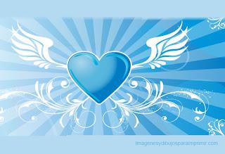 corazon con alas para imprimir