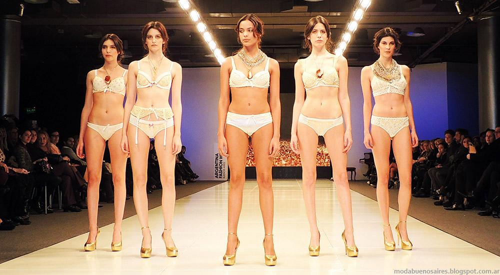 Moda ropa interior 2015 Ara Intimates by Araceli Gonzalez Argentina Fashion Week primavera verano 2015.