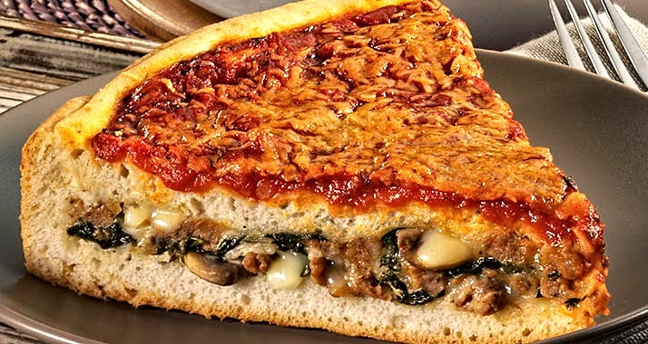 stuffed sausage spinach and mushroom pizza easy recipe