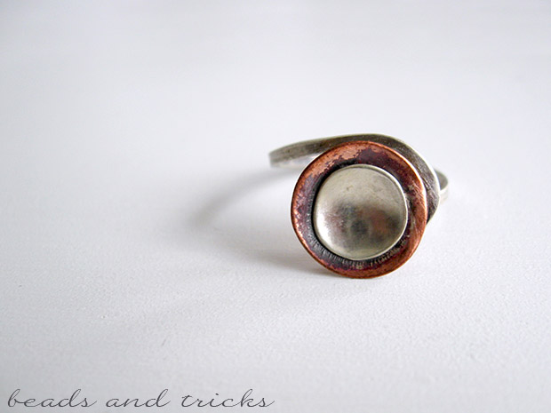 Anello in argento e rame