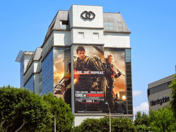 Giant Edge of Tomorrow movie billboard