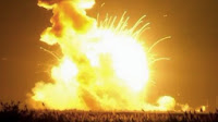 Rocket explodes over eastern Virginia