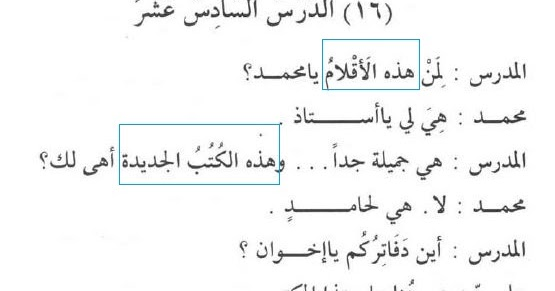 Pelajaran 16 Isim Aqil Dan Isim Ghairu Aqil