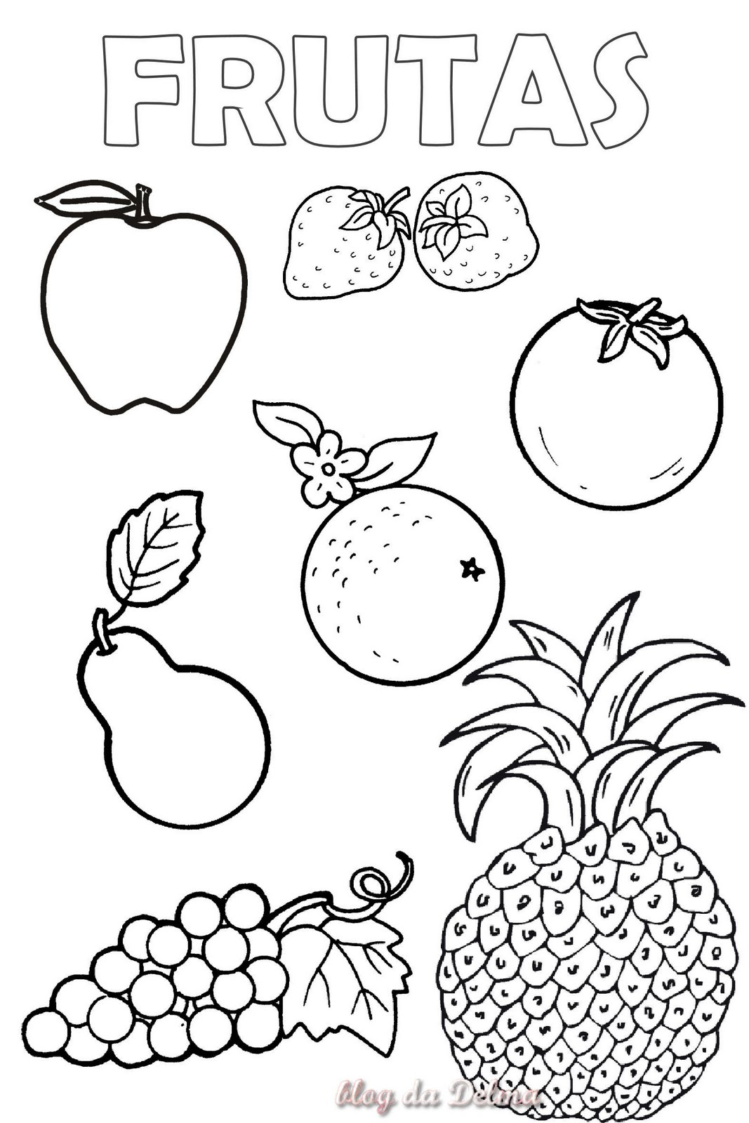 Tropical Fruit Coloring Pages Memes