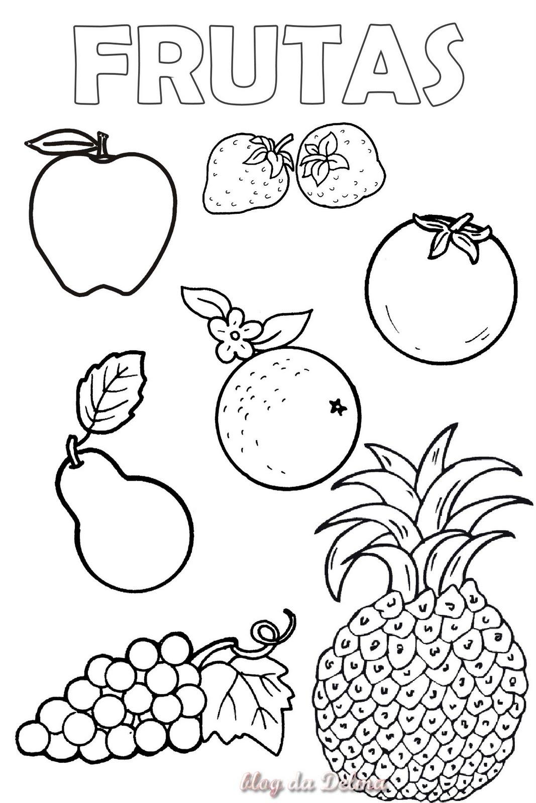 Asombroso Páginas Para Colorear De Fruta Imprimible Para Niños ...