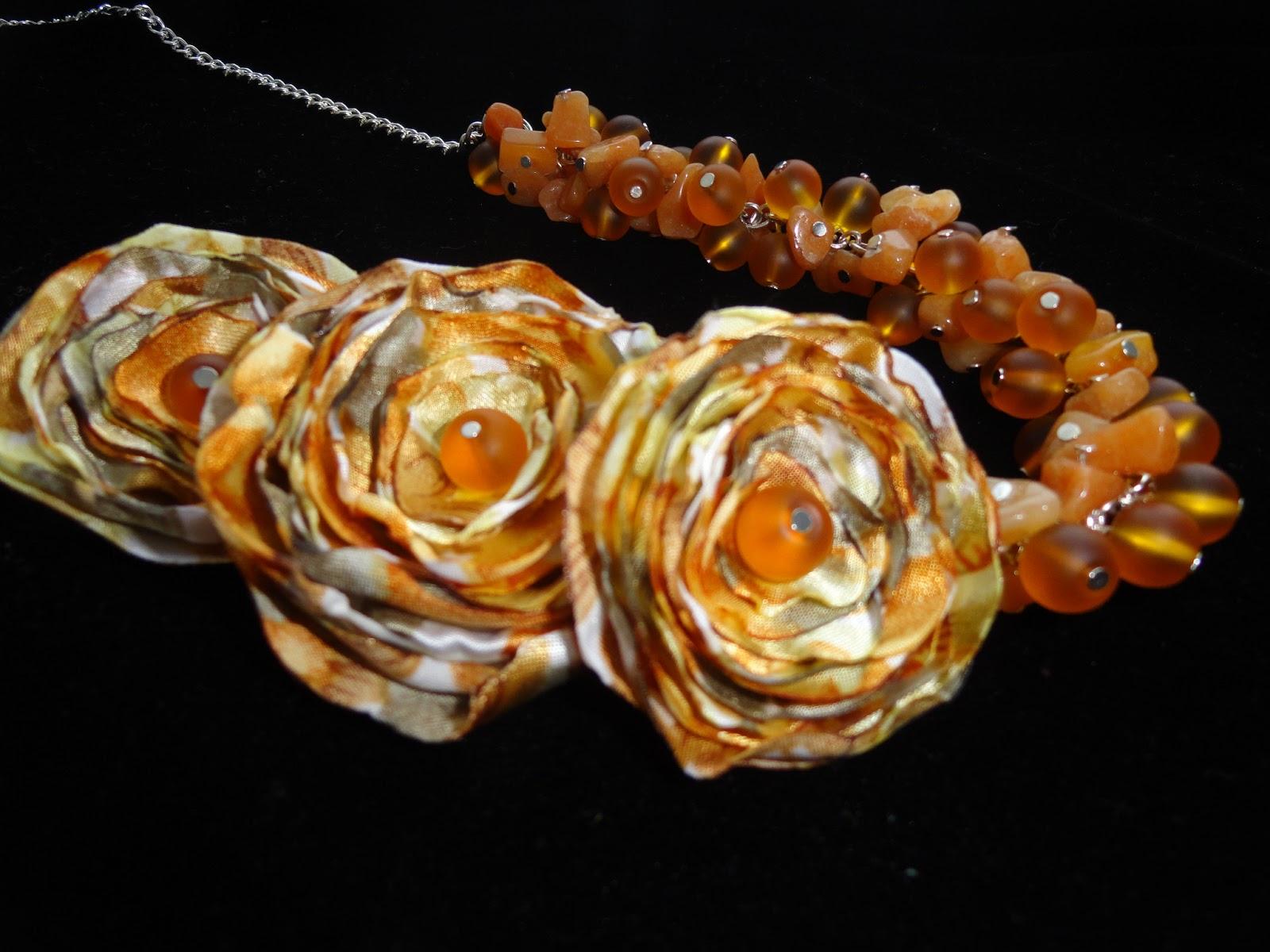 Ожерелье, медовый нектар, hand-made