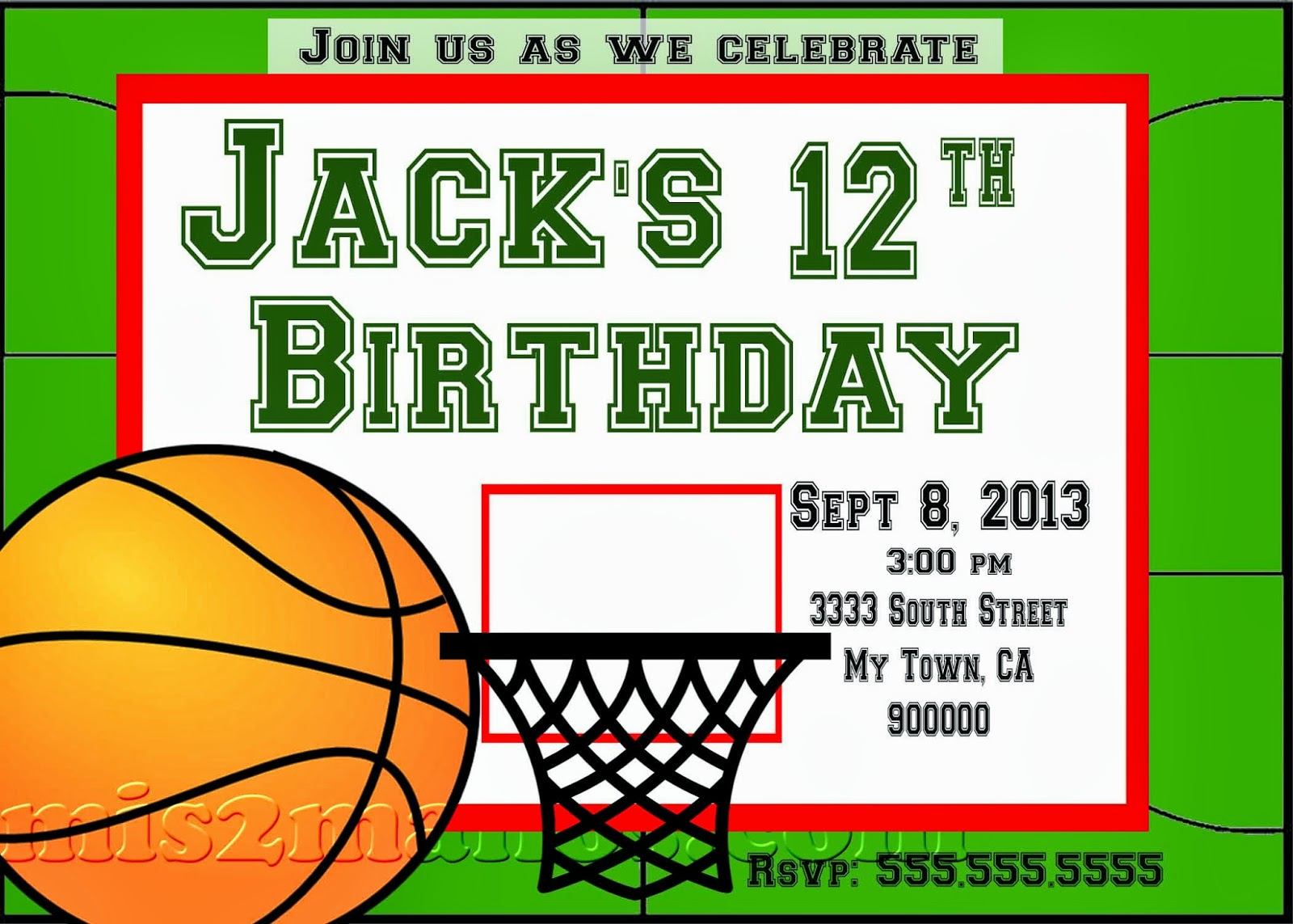Mis 2 Manos: Made by My Hands: Basketball Party Teen Birthday Party ...