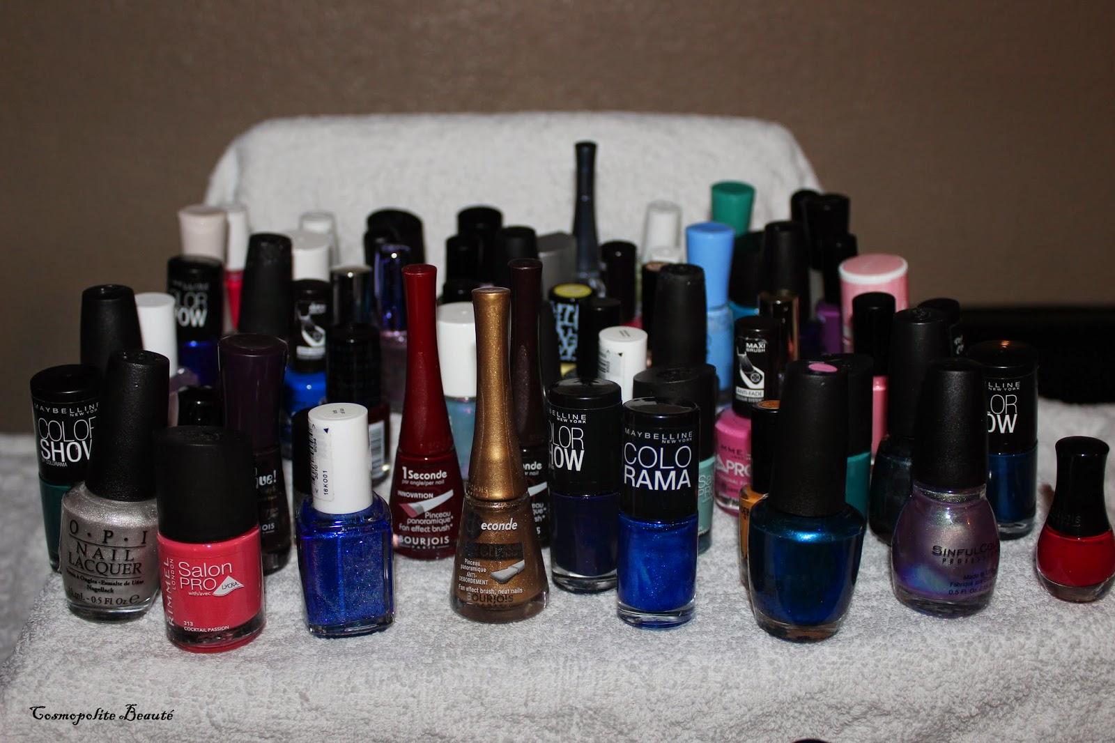 vernis, manucure, ongles, Essie, BOURJOIS, China Glaze, Rimmel, Revlon, L'Oréal, Peggy Sage, Mavala, Sinful Colors, Gemey, Une