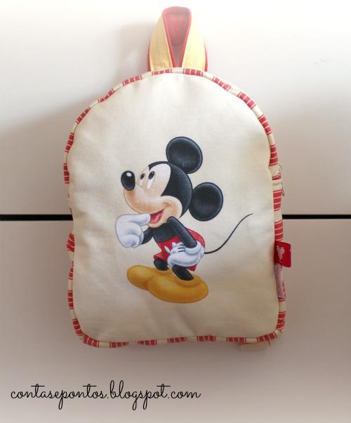 Mochila em tecido - Mickey