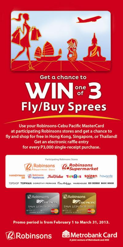 Robinsons-Cebu Pacific MasterCard Raffle Promo