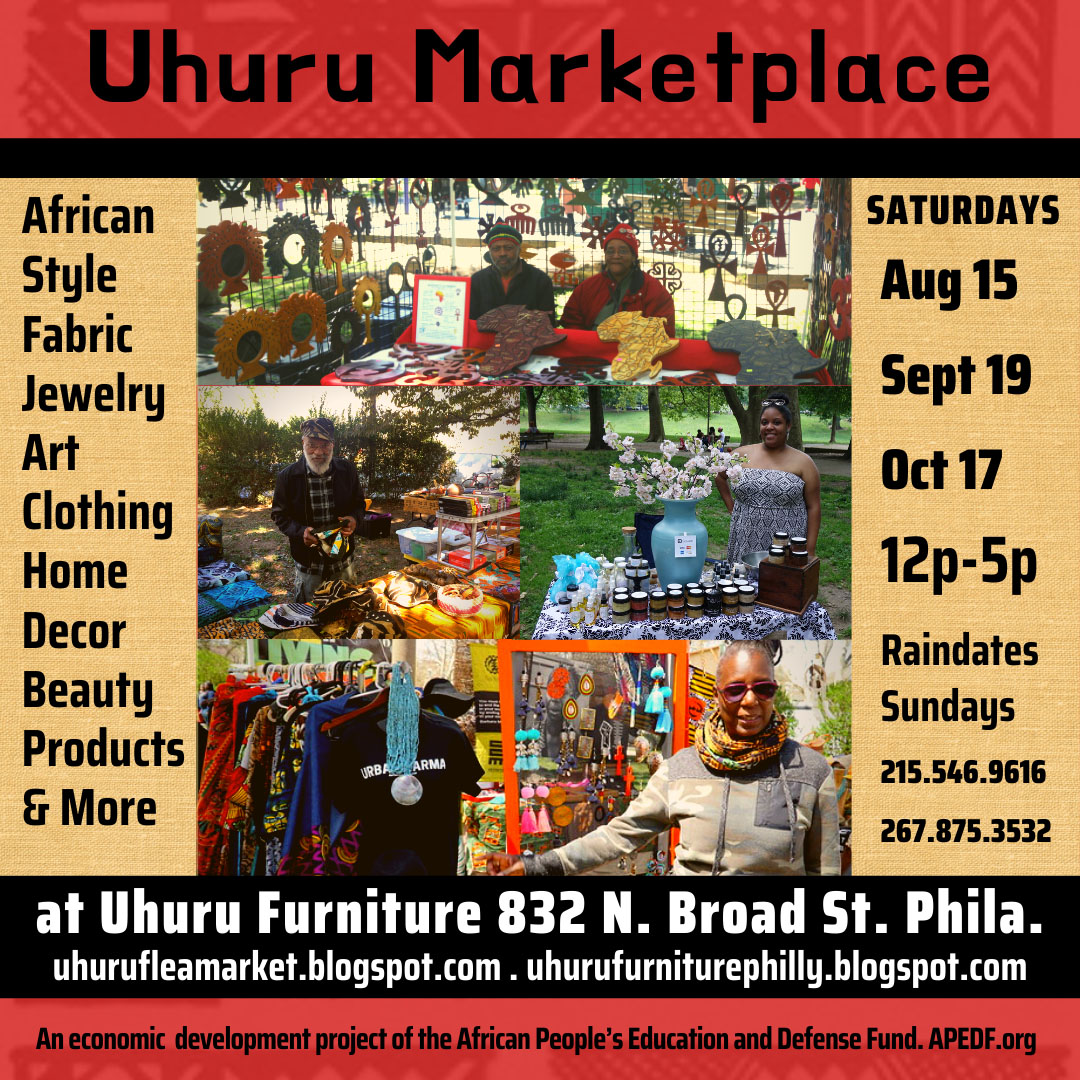 Uhuru Pop-Up Market<br>Sat. Aug. 15th 12-5pm
