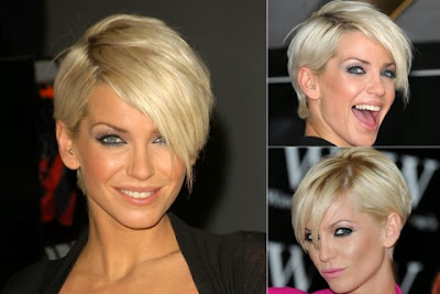 short haircut with bangs Sarah Harding