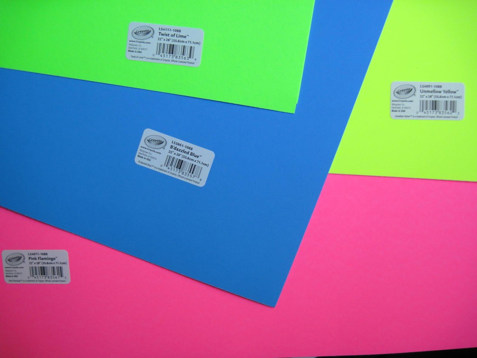 Crayola Poster Board 3/$1 at Walgreens : StewardShop