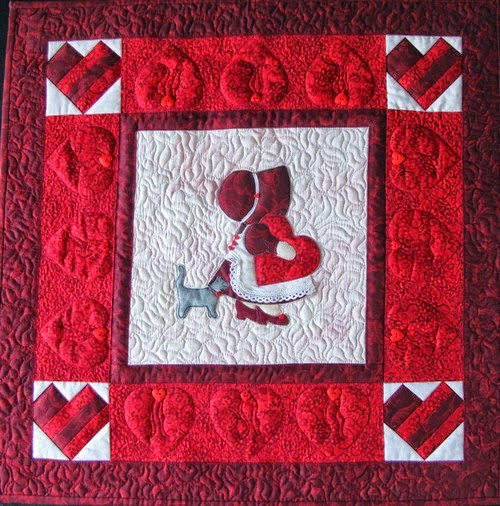 NEW !!! For February - Valentine's Sunbonnet Sue