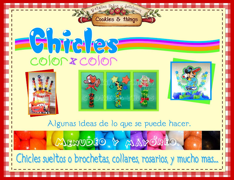chicles por color tijuana
