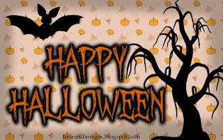 imagen de murciélago y árbol tenebroso para el día de halloween