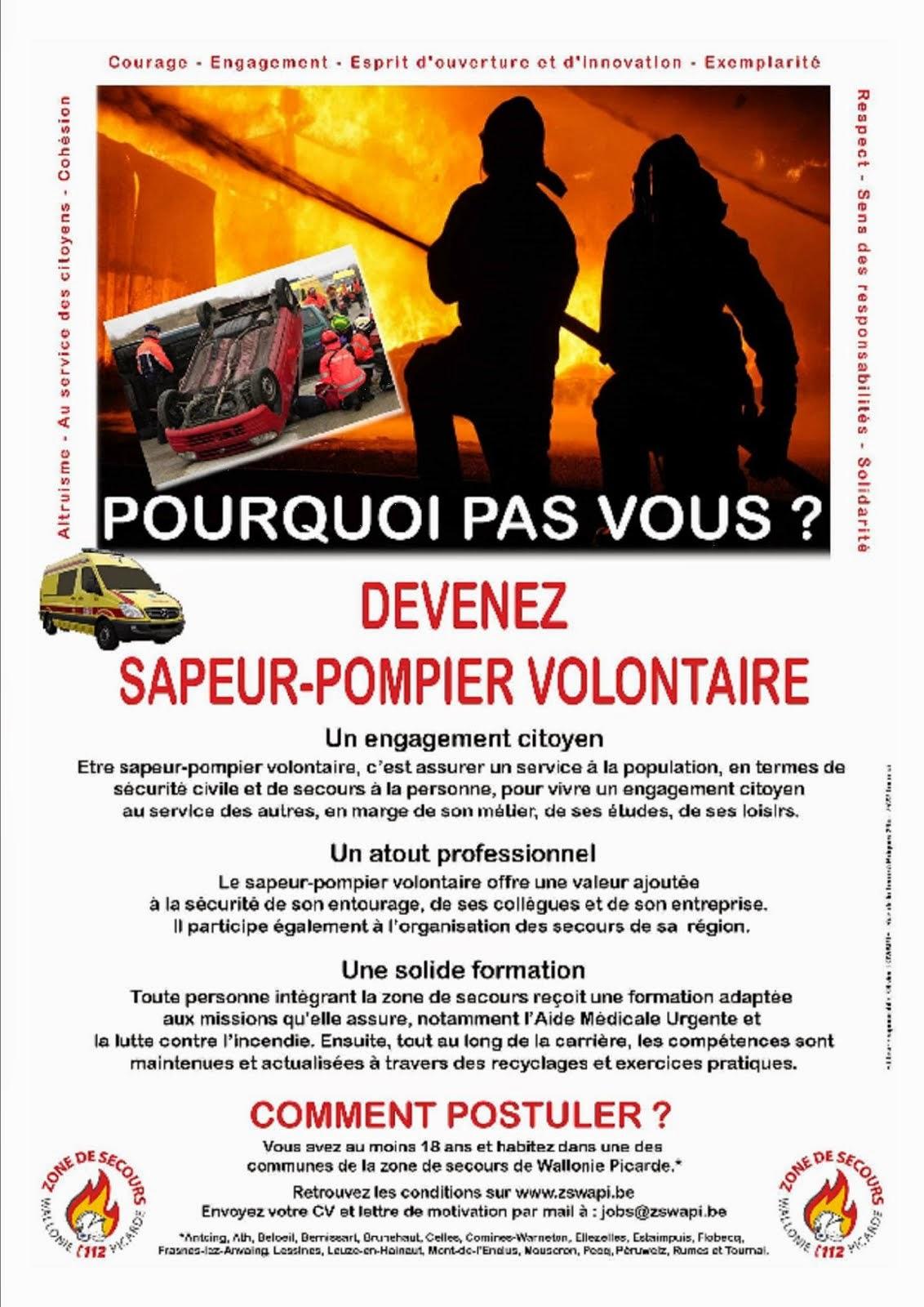 Devenez Sapeur-Pompier-Volontaire.