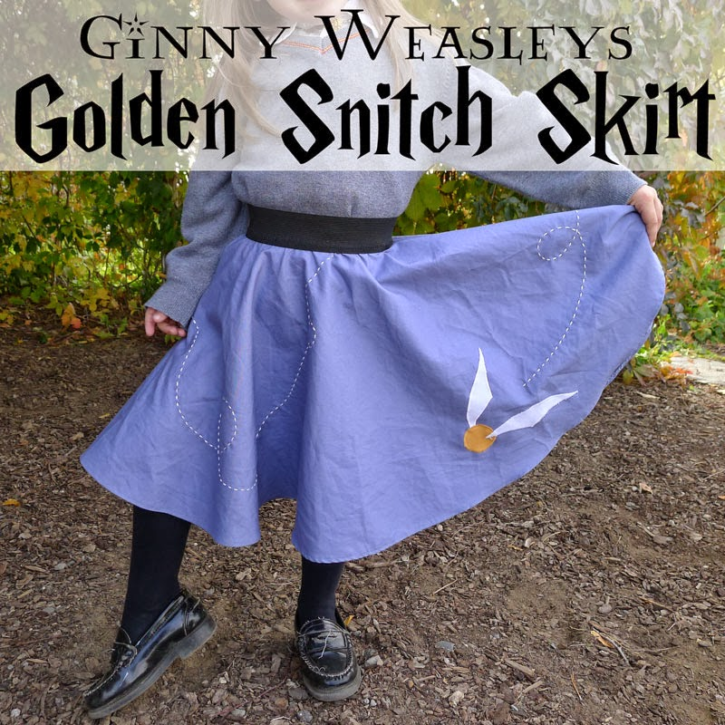 Pieces by Polly: Ginny Weasley\'s Golden Snitch Skirt - DIY Halloween ...