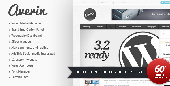 Averin - Magazine Wordpress Theme Free Download by ThemeForest.